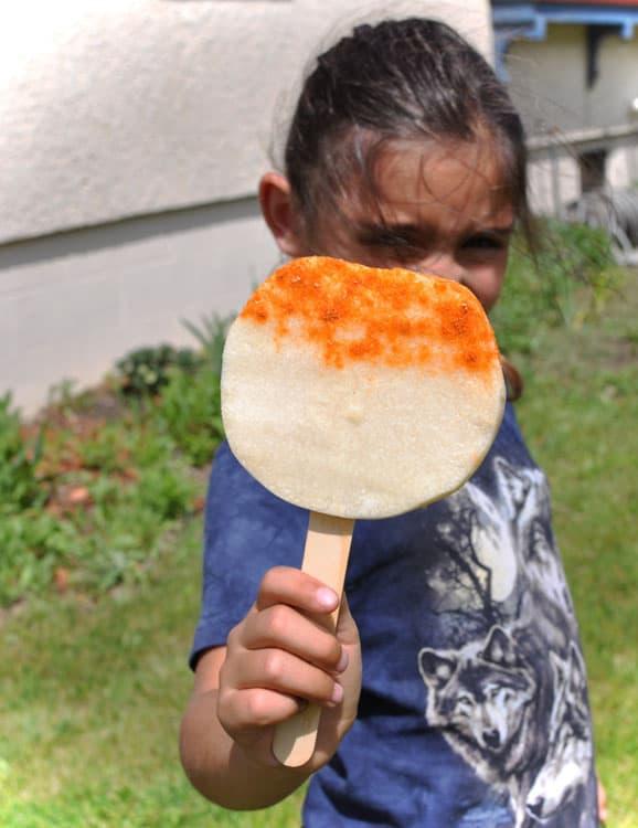 Jicama Popsicles