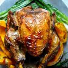 A whole new way to cook your Thanksgiving turkey; this poached and roasted turkey ensure a juicy and incredibly flavorful bird and the technique is easy!