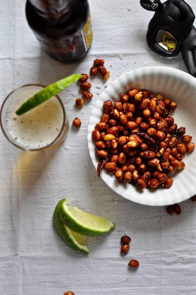 Chili Lime Roasted Peanuts Recipe