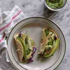 This recipe for chicken tacos with cilantro pesto is so good you wouldn't believe how easy it is. The whole thing comes together in under 30 minutes!