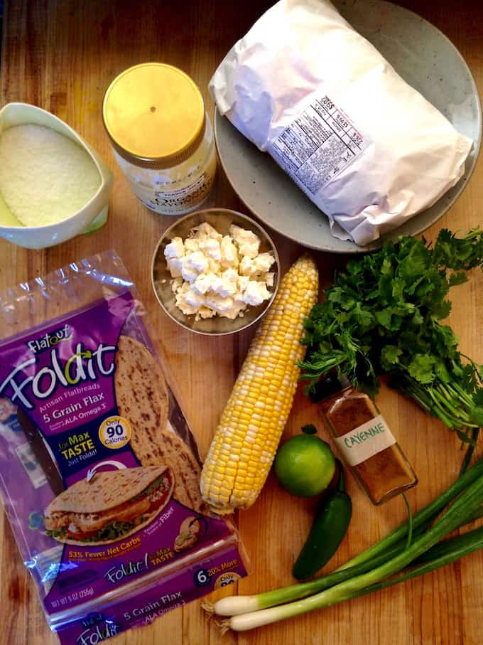 Feta Stuffed Burger with Grilled Mexican Street Corn Recipe