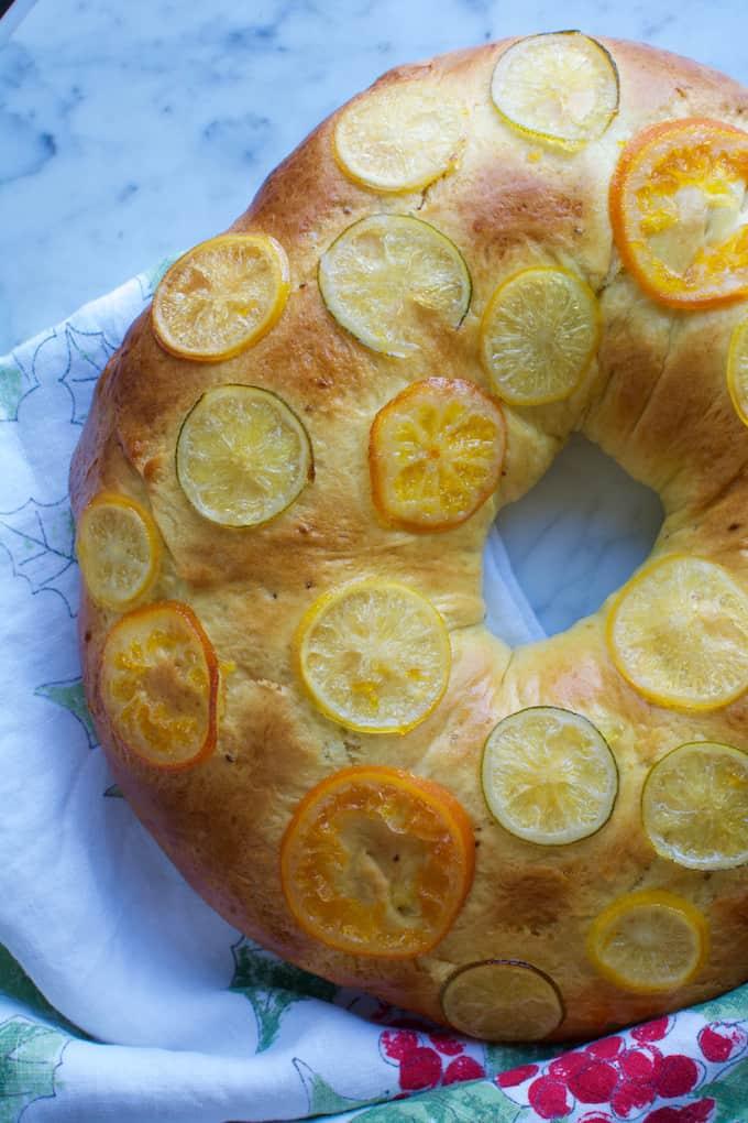 Three Kings Bread Recipe {Rosca de Reyes} from @holajalapeno