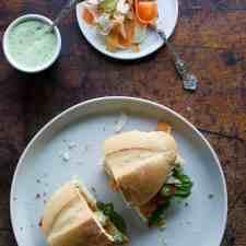 Chicken Milanesa Sandwich with Lime-Basil Mayo Recipe