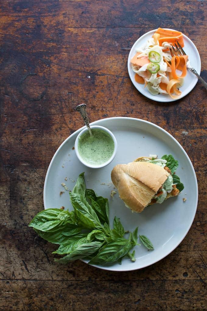 Chicken Milanesa Sandwich with Basil-Lime Mayo Recipe
