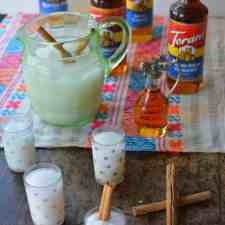 Make this fun horchata bar that is a hit with kids and adults alike for this year's Halloween party. Using syrups means everyone can make their own flavor!
