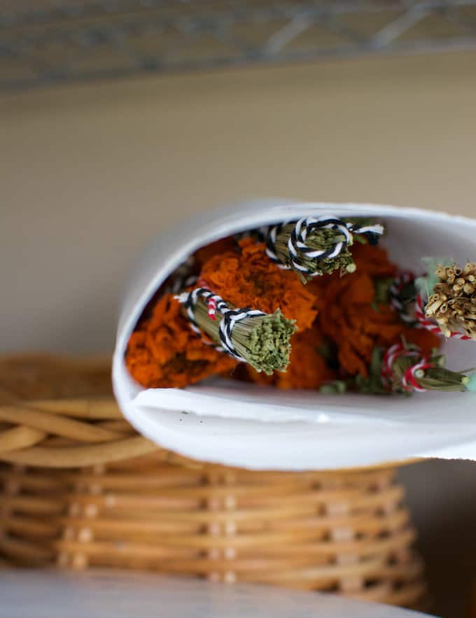 How To Make Marigold Smudge Sticks for Day of the Dead