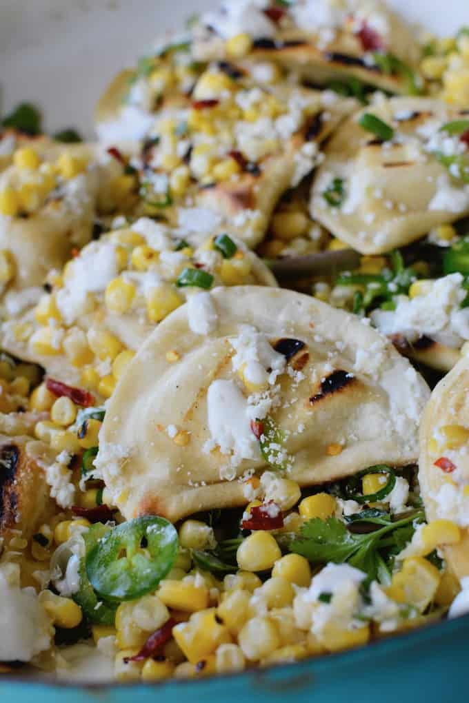 #ad|This warm summer platter is always a massive hit. Grilled @MrsTsPierogies, everyone's favorite Mexican street corn and crumbled cheese, I mean what's not to love? #streetcorn #MrsTsPierogies #vegetariangrillingrecipe #bbqside #grillingside