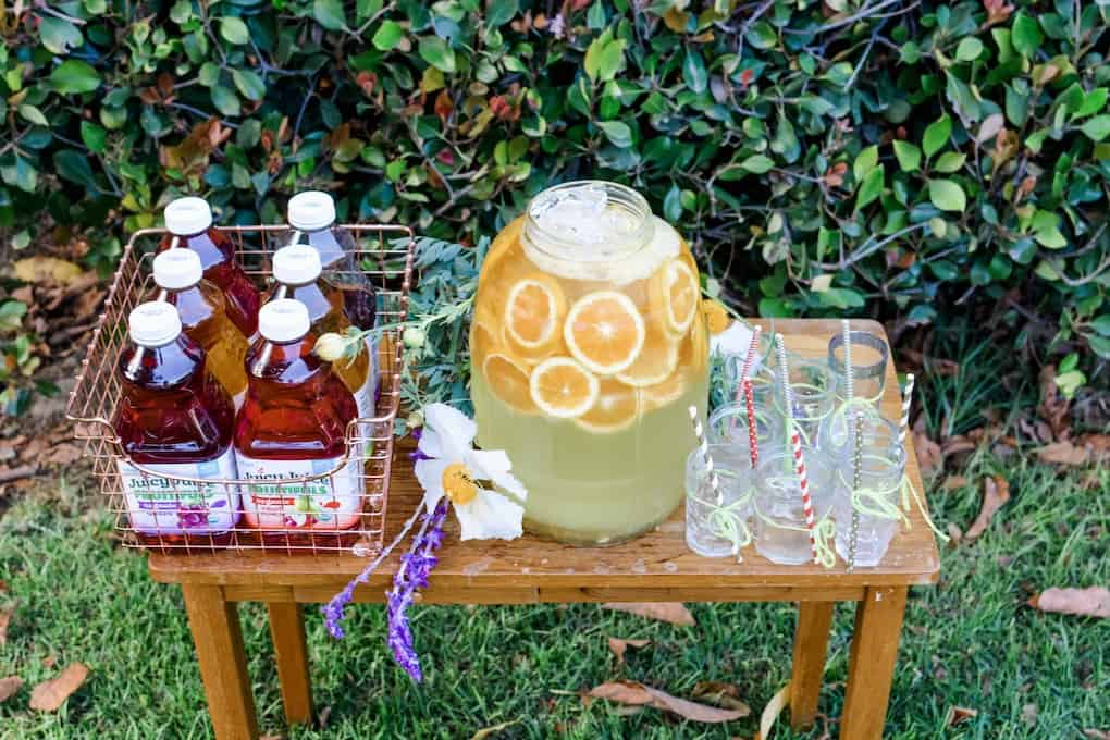 Summer entertaining recipes guide is loaded with endless, easy ideas and tips, like how to set up a beverage station, will have you partying from Memorial Day to Labor Day. #summerentertaining #drinkideas #drinkstation #summerideas #easyentertaining