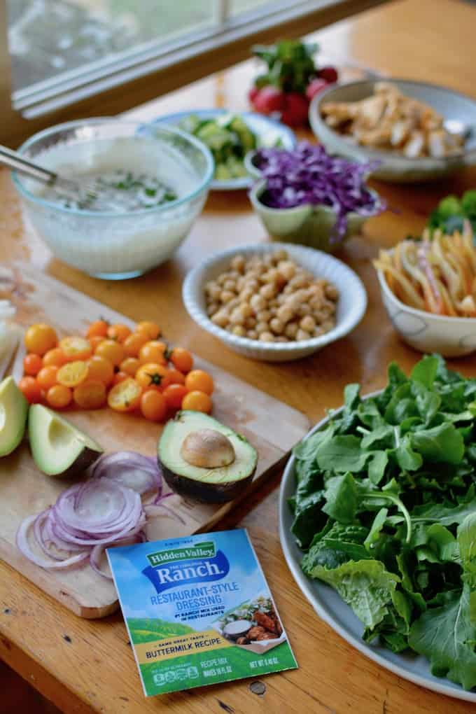 The secret to restaurant Ranch dressing is just a click away! Find out how right here. #sponsored #HVRlove #holajalapeno #choppedsalad