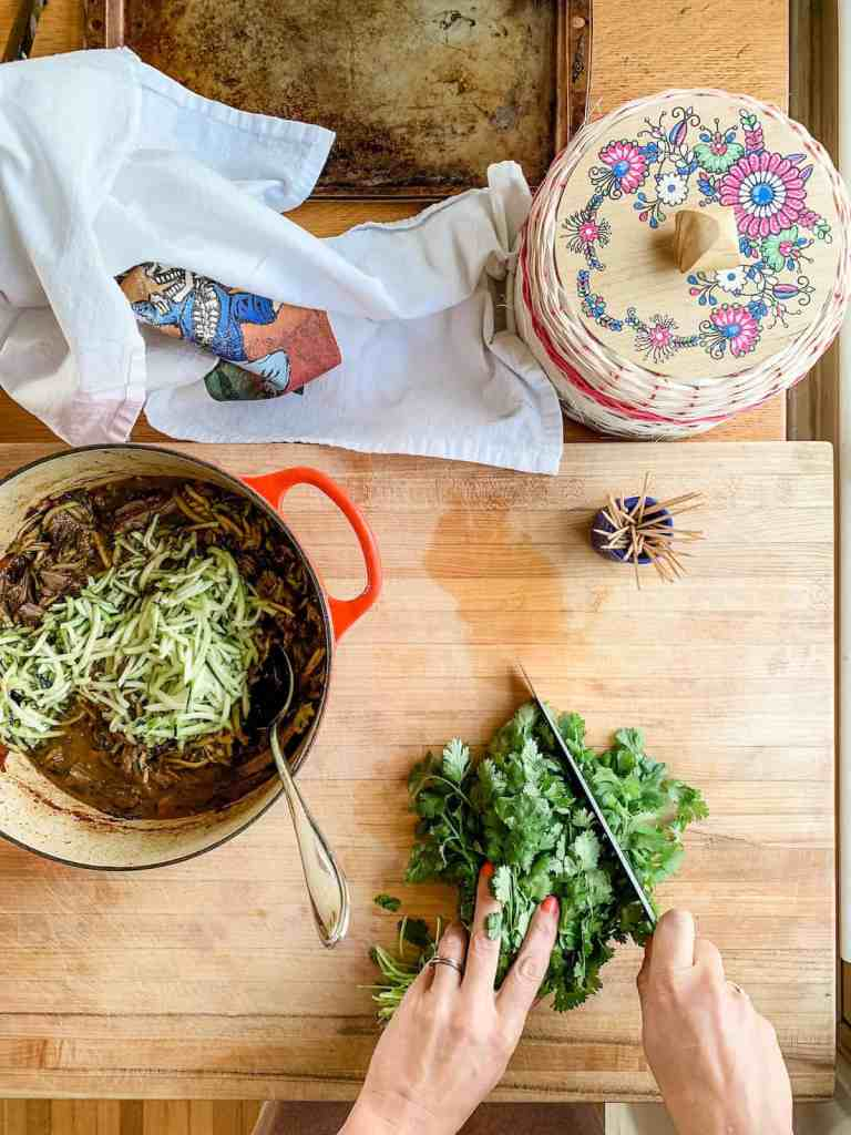 Slowly braised beef and tender strips of zucchini make these beef flautas simply irresistible. Click now for the recipe! #cincodemayo #beefflautas #flautas #mexicanrecipe