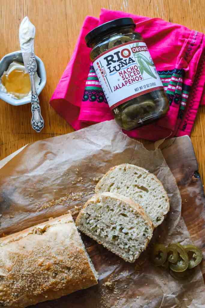 A bread recipe for beginners! This no-yeast, no eggs, beer bread recipe is dead simple and impossible to mess up! #beerbread #easybread #breadrecipe #jalapenobeerbread