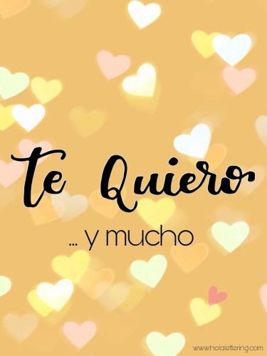 te quiero lettering san valentin