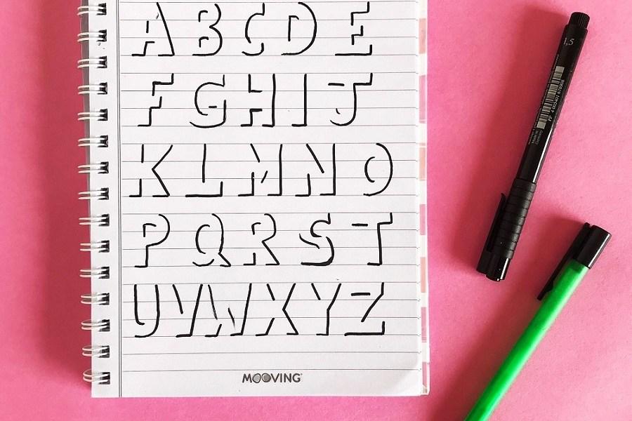 letras mayusculas invisibles