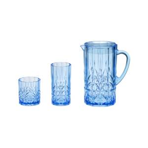 AW-013 AW-014 AW-017 Royal Blue Pitcher and Tumbler