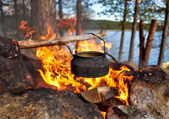 Holar - Blog - 4 Ways to Brew Best Coffee While Camping - Cowboy Coffee
