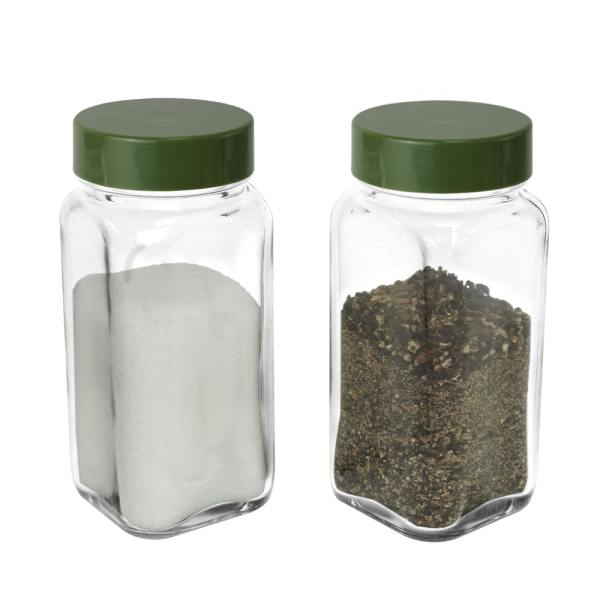 4 oz spice shaker with army green lid-set