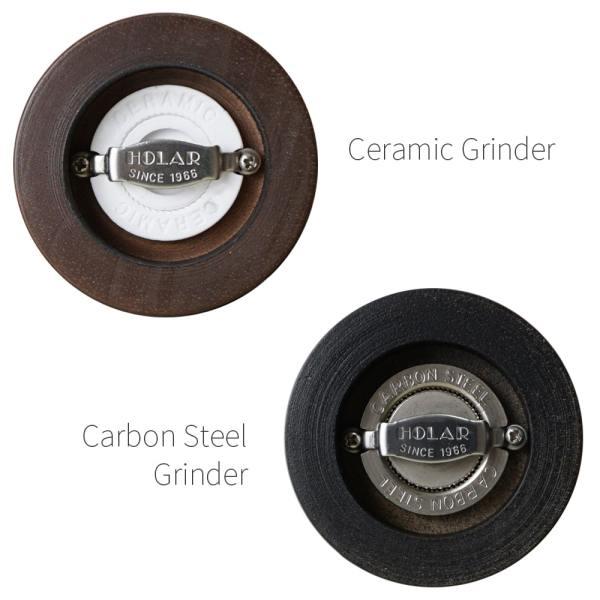 Ceramic burr mechanism of Holar wood classic salt pepper grinders_BASS