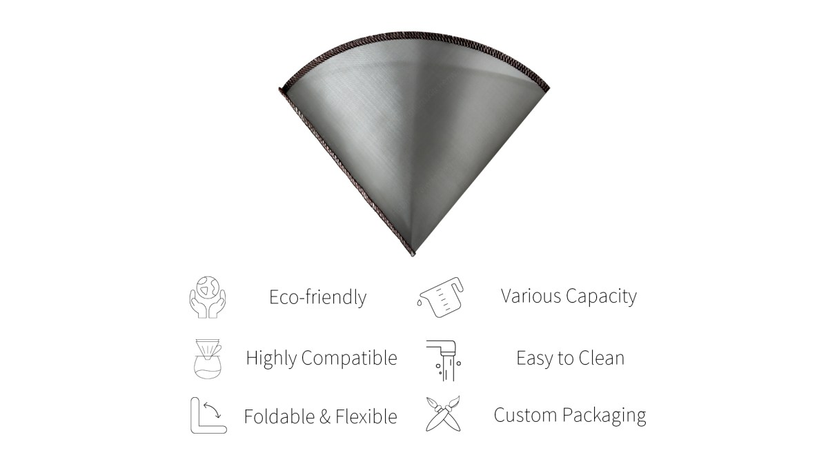 Features of Holar reusable coffee filter-PS-DC03