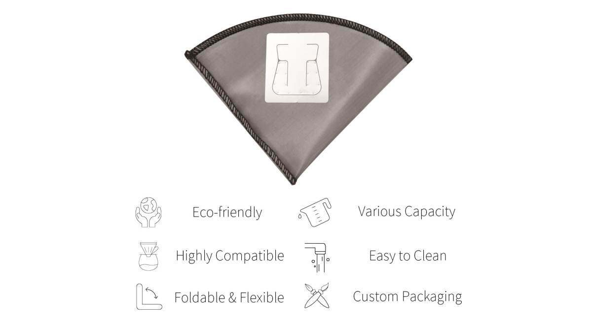 Features of Holar reusable coffee filter with ears-PS-DC07