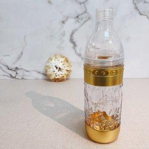 Gold Printing Beverage Shaker Bottle