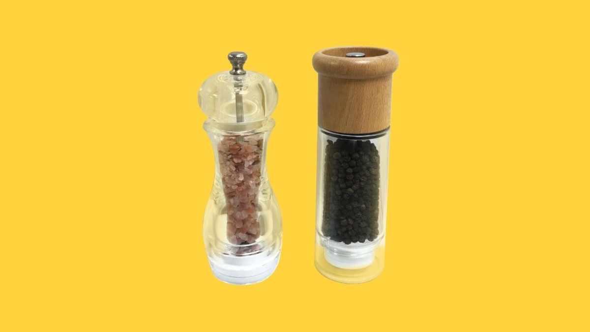 Holar Acrylic Salt and Pepper Mills-coverlt Shaker-cover