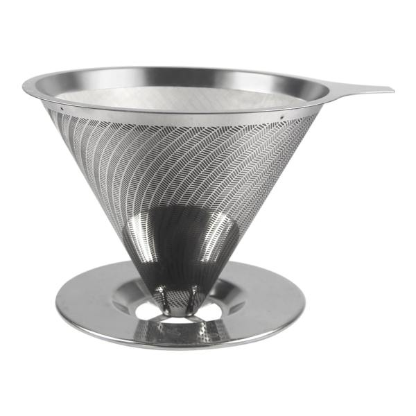 Holar - Coffee - Coffee Filter - PS-DC01-B Reusable Stainless Steel Double Coffee Dripper with Base - 1