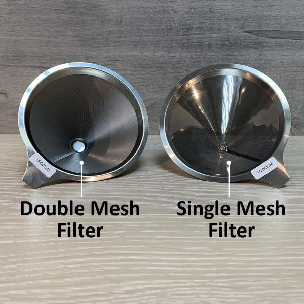 Holar - Coffee - Coffee Filter - PS-DC01-B Reusable Stainless Steel Double Coffee Dripper with Base - 3