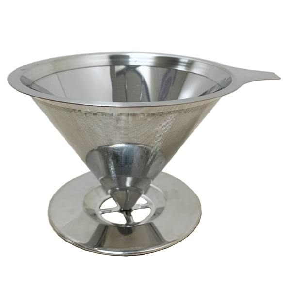 Holar - Coffee - Coffee Filter - PS-DC02-B Reusable Stainless Steel Single Coffee Dripper with Base - 1