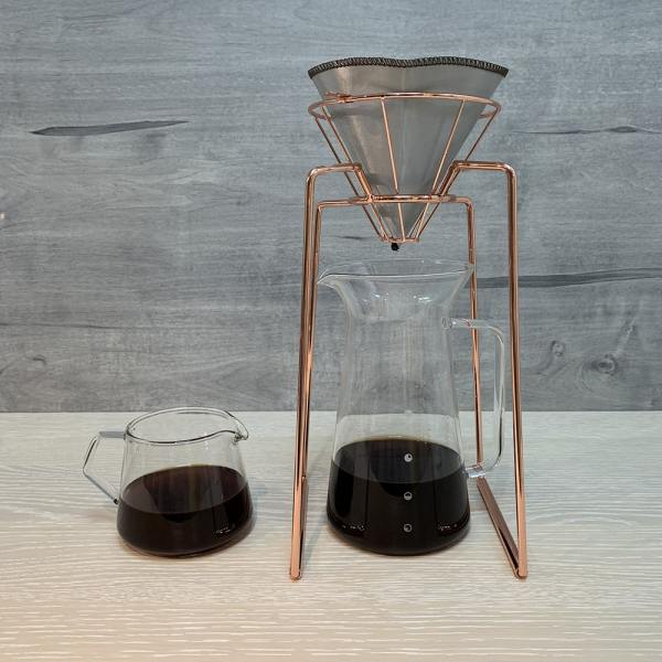 Holar - Coffee - Coffee Filter - PS-DC03 Reusable Foldable Stainless Steel Coffee Cone Dripper - 4