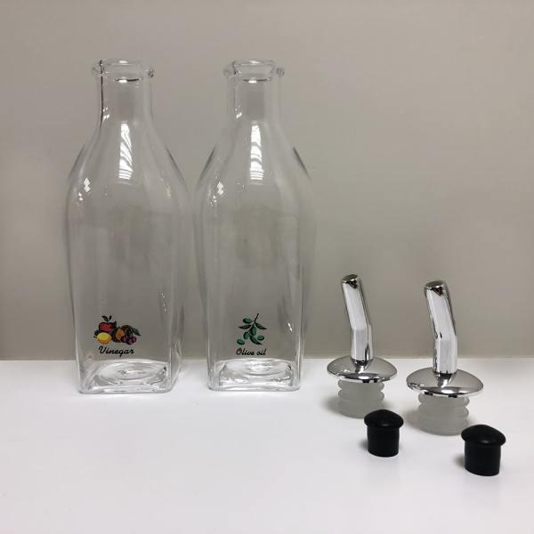 Holar - Oil And Vinegar - Plated And AC Series - HK-525 Oil And Vinegar Dispenser Set - All