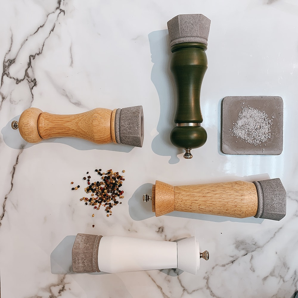 Holar - Salt And Pepper Mill Grinder - Wood Mill - Wood And Concrete Series - CEC-08 Pepper Mill - 7