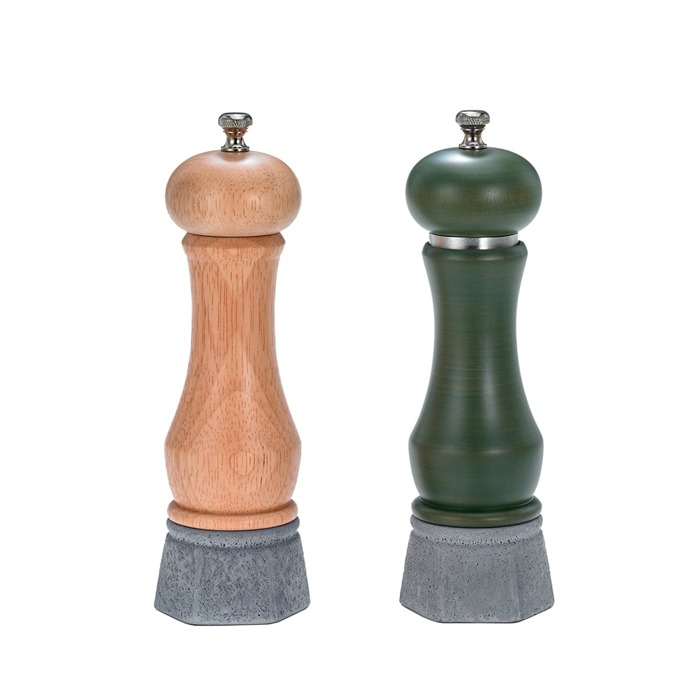 Holar - Salt And Pepper Mill Grinder - Wood Mill - Wood And Concrete Series - CEC-08 Pepper Mill