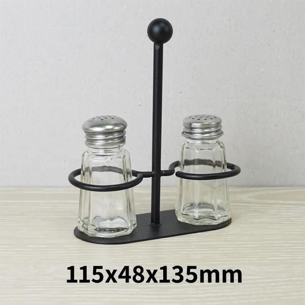 Holar - Salt Pepper Holder Stand Tray - Salt and Pepper Grinder Set Stand of 2 - WSD-T