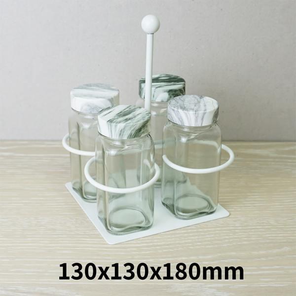 Holar - Salt Pepper Holder Stand Tray - Salt and Pepper Grinder Set Stand of 4 - WSD-J Holder