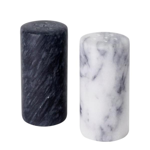 Holar - Tabletop - Marble - MB-36 Set of 2 Marble Salt and Pepper Shakers - Cover