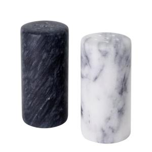 MB-36 Set of 2 Marble Salt and Pepper Shakers