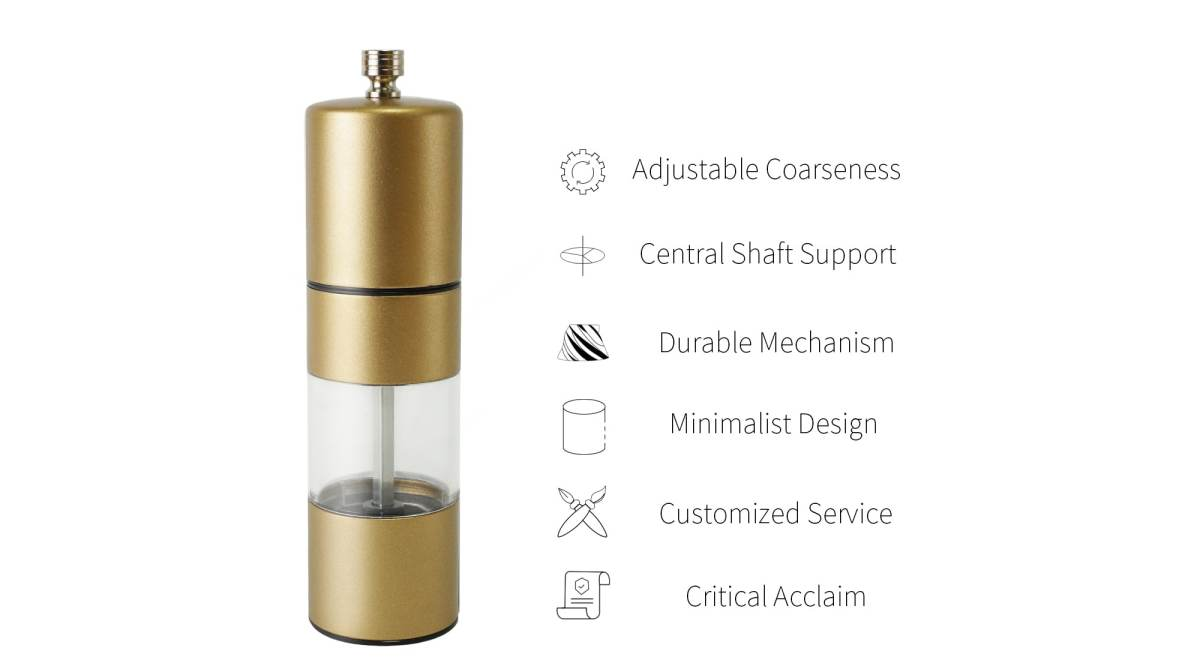 Holar lacquer gold spice grinder -SSAP
