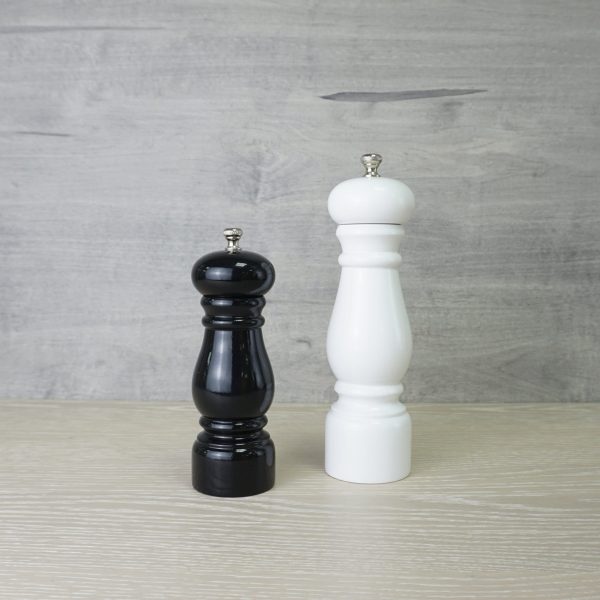 Holar wood salt and pepper grinder with piano finish_MX