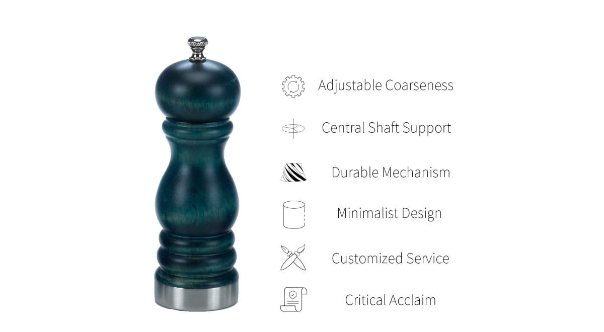 Manual Salt and Pepper Grinder with Stainless Steel Base_ATS