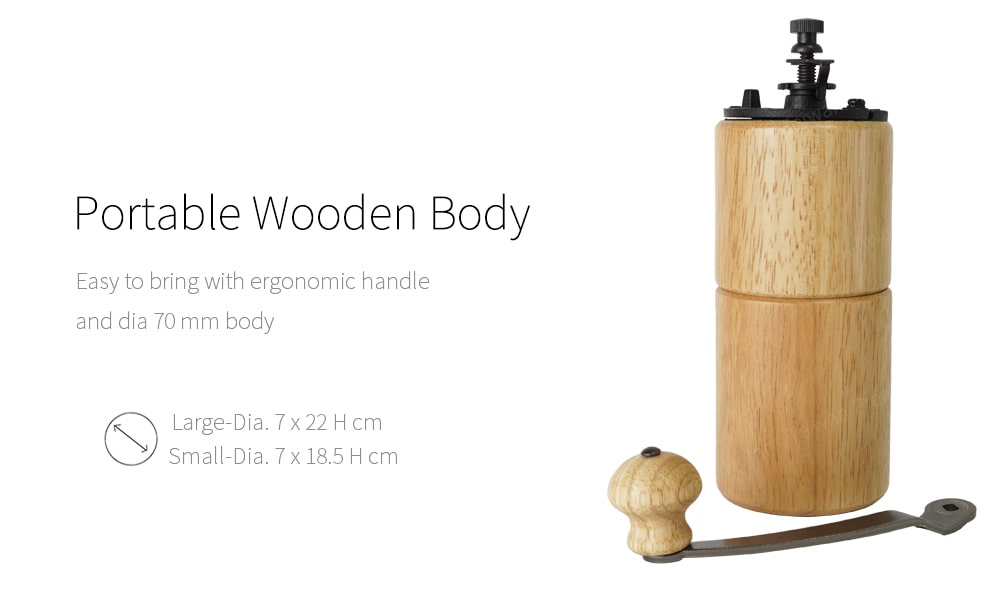 Portable wooden body of manual coffee mill_CMA1819