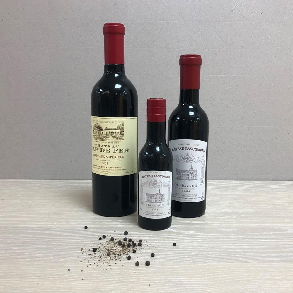 RW Wine Bottle Shaped Wood Pepper Grinder-Allsize