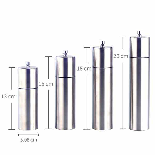 SS-03 Stainless steel pepper grinder-dimension
