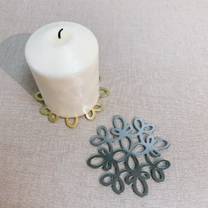 Set of 4 Gold and Silver Metal Coaster