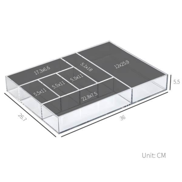 dimensions of acrylic drawer organiz