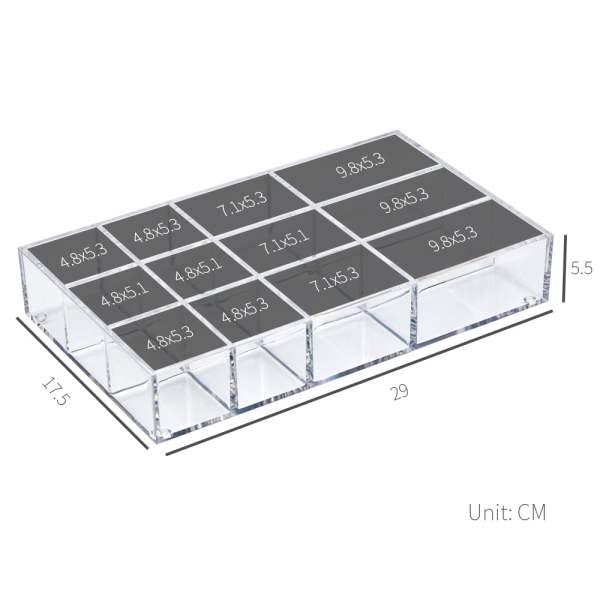 dimensions of acrylic drawer organizer-AZ 26