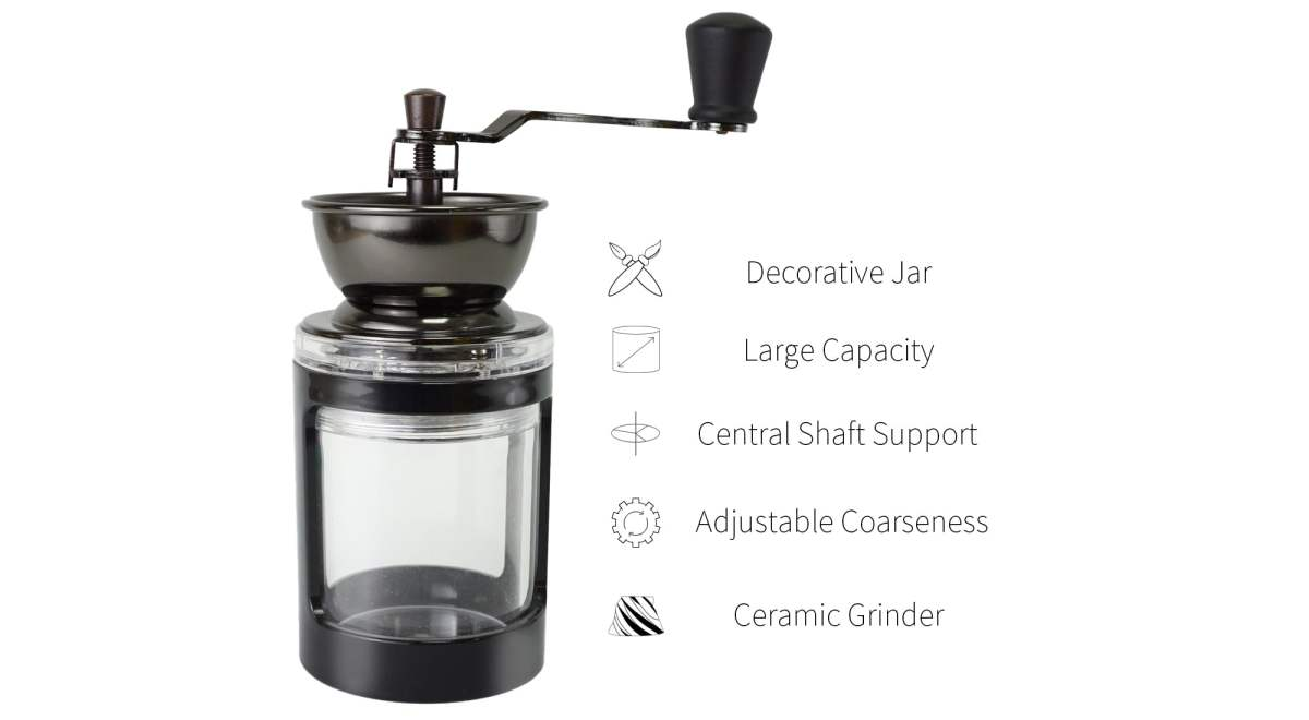 feature of CM-DY02-D acrylic coffee mill