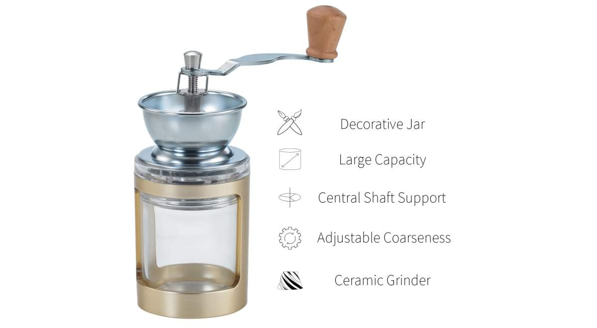 feature of gold coffee bean mill-DY03GD-A