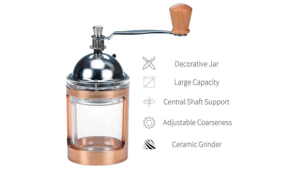 feature of rose gold portable coffee grinders-DY03RG-C