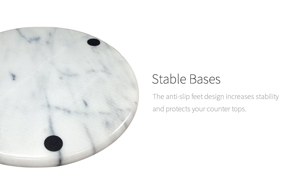 stable base - Holar MB-07 marble round plate