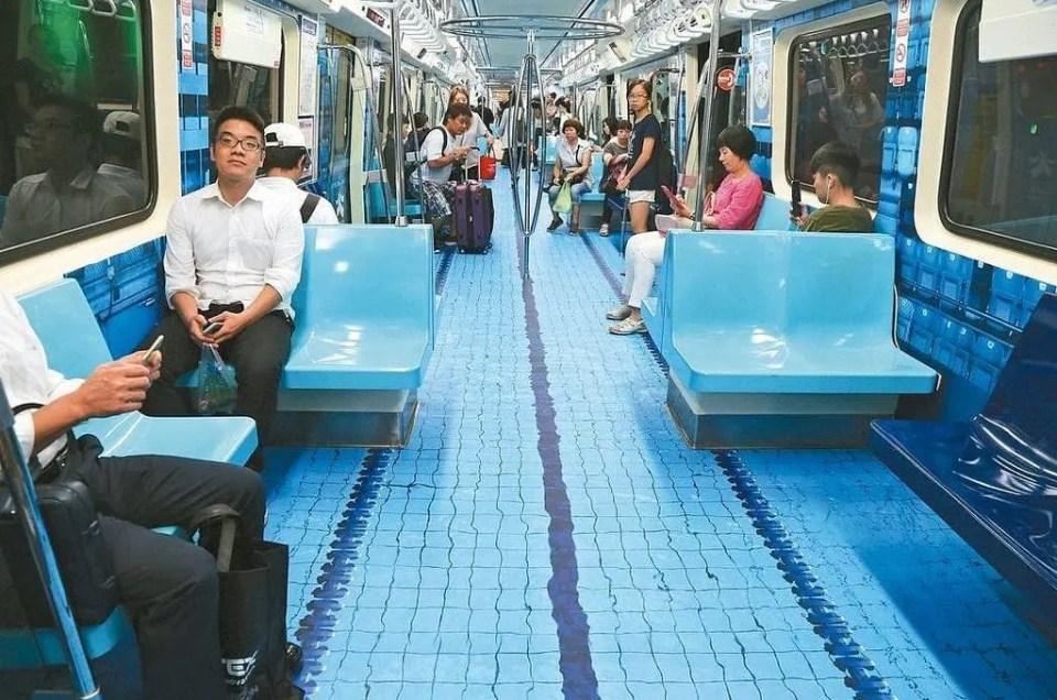 El metro de Taipei recibe las olimpiadas universitarias de esta manera